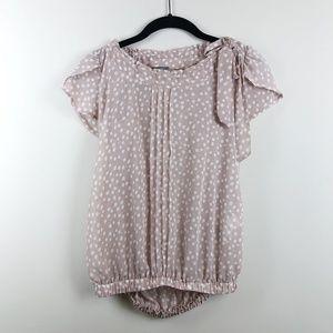 Zara Basic 100% Polyester Polka Dot Blouse